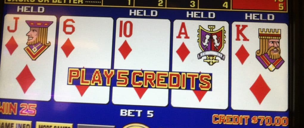 Video poker automaat in Las Vegas